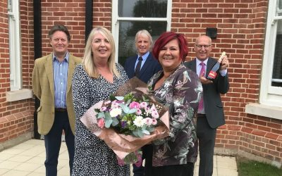 First buyer moves into new homes at Creffield Road